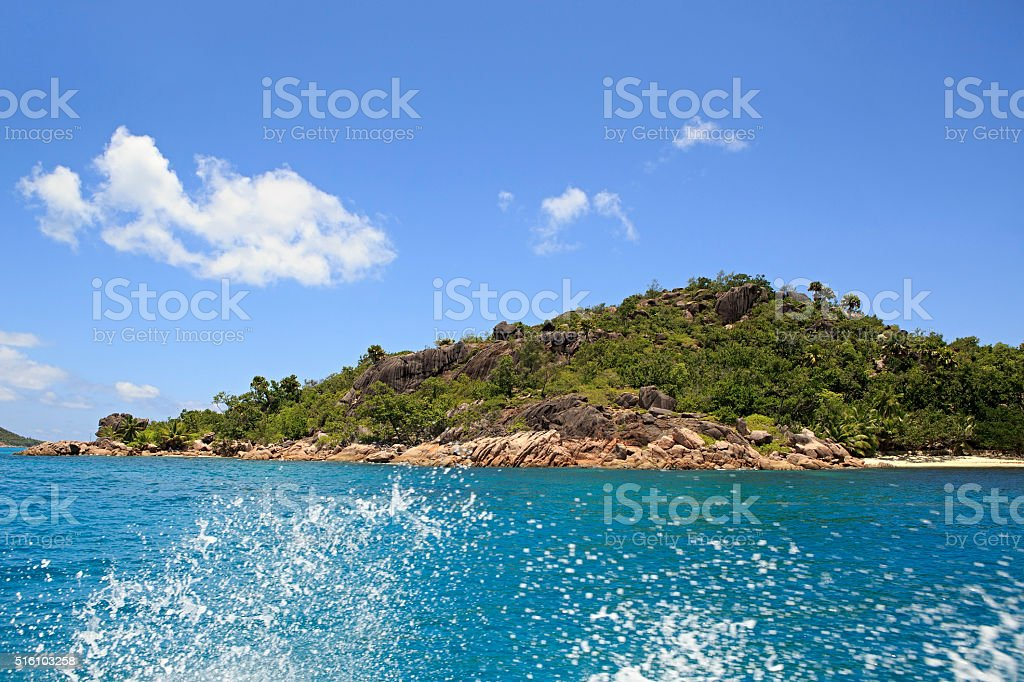Beautiful Curieuse Island in Indian Ocean stock photo