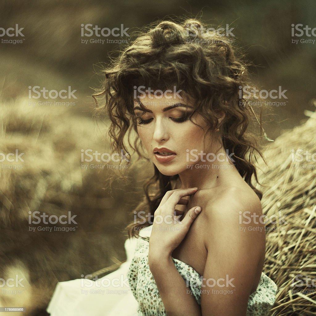 Beautiful curly women royalty-free stock photo