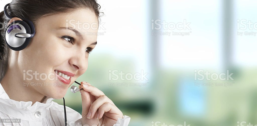 Beautiful Customer Representative royalty-free stock photo
