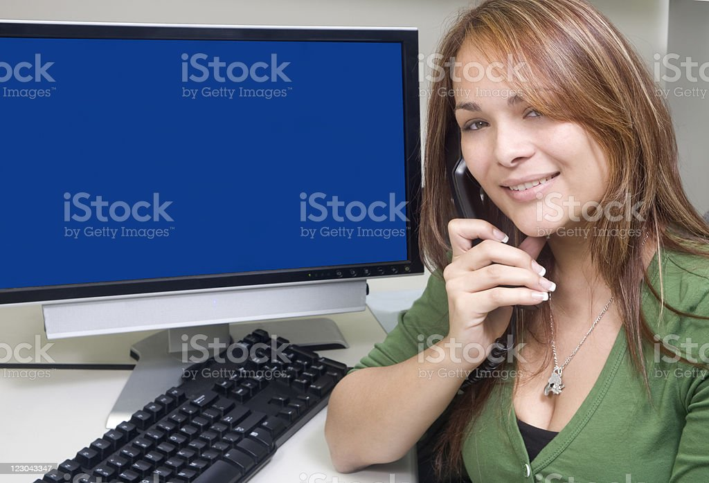Beautiful Customer Service Rep royalty-free stock photo