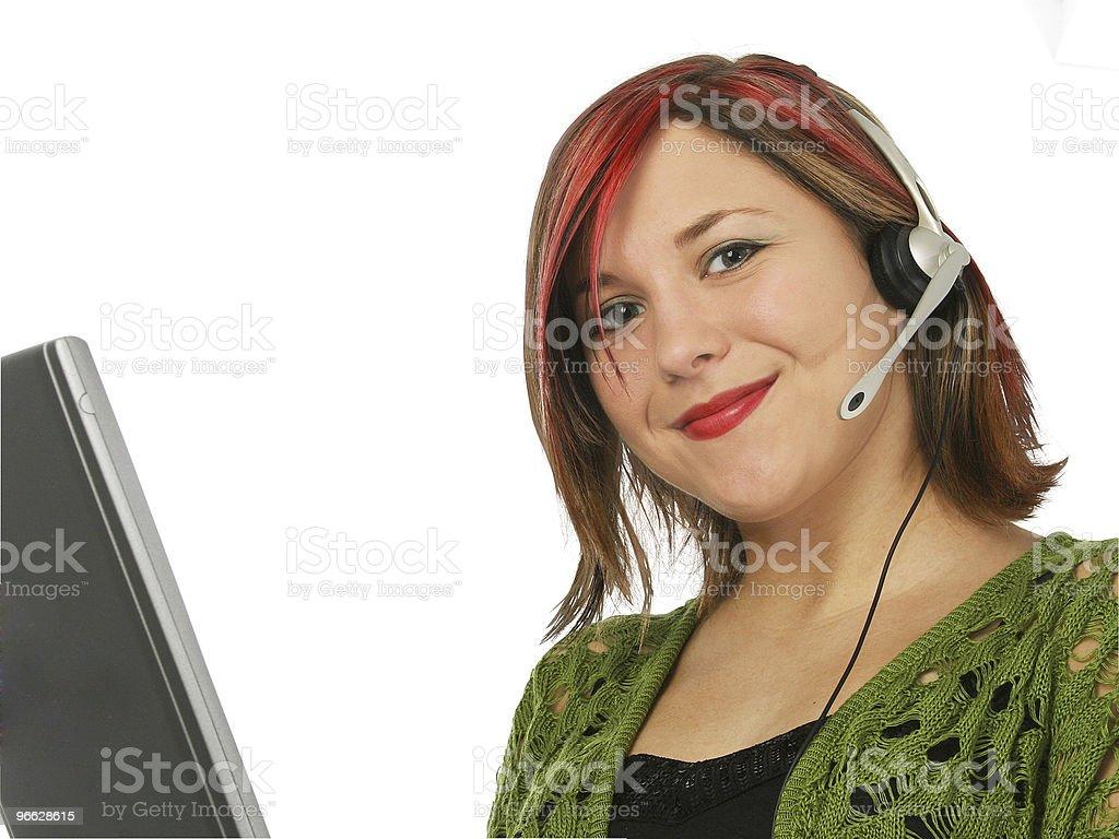 Beautiful Customer Service Rep stock photo