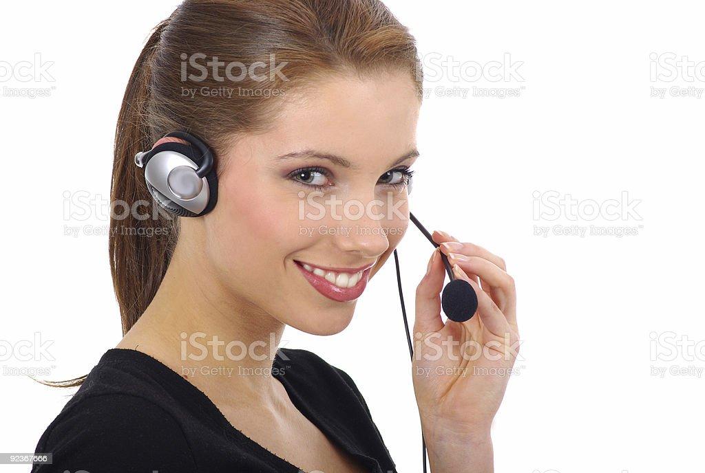 Beautiful Customer Support Girl royalty-free stock photo