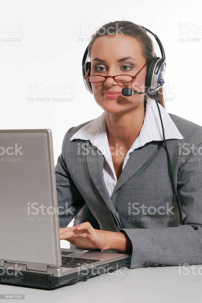 Beautiful customer support royalty-free stock photo