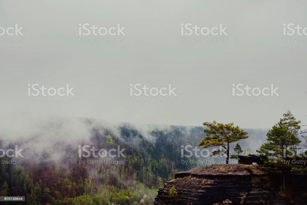 Beautiful Czech countryside stock photo