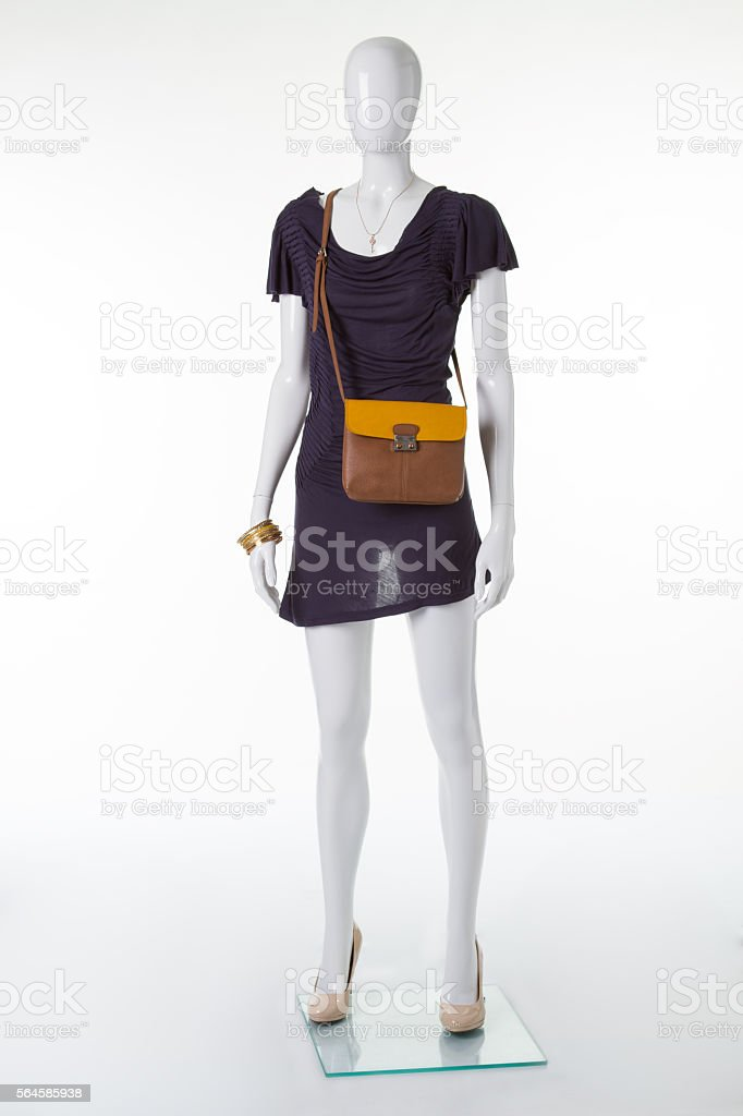 Beautiful daily dress on a mannequin. stock photo
