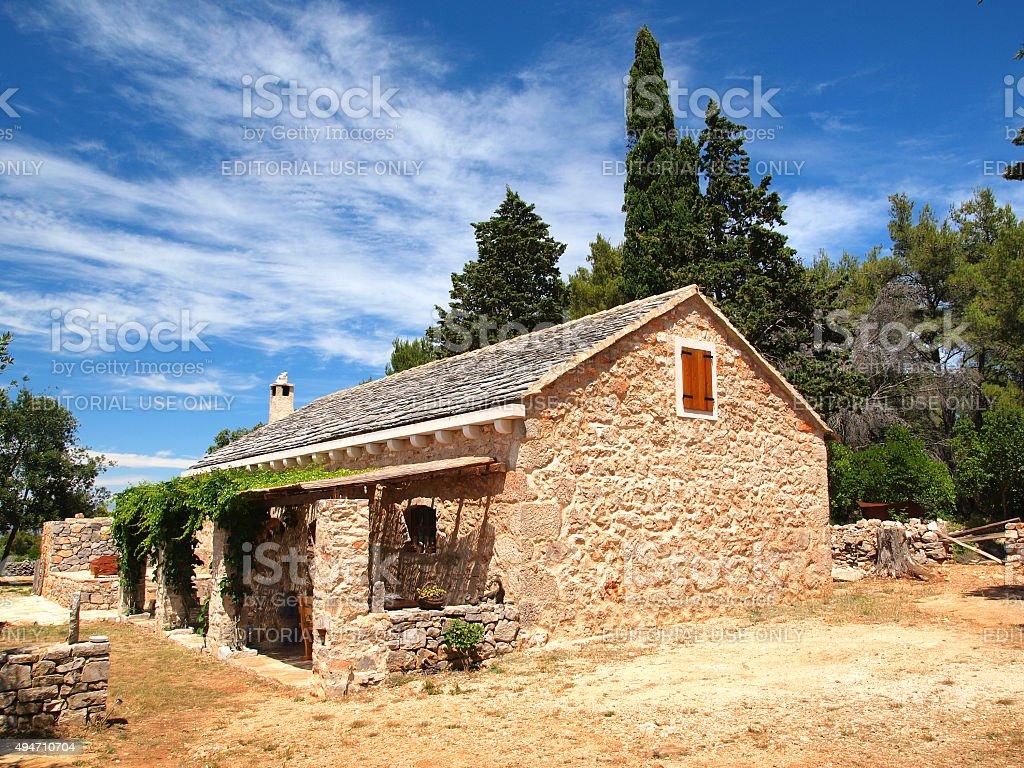 Beautiful Dalmatian villa stock photo