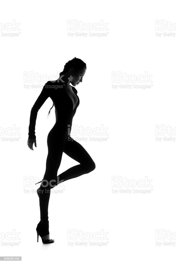 Beautiful dancer girl stock photo