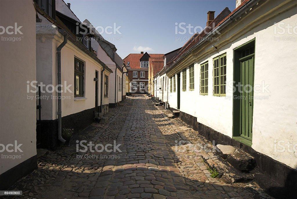 Beautiful Danish Town stock photo