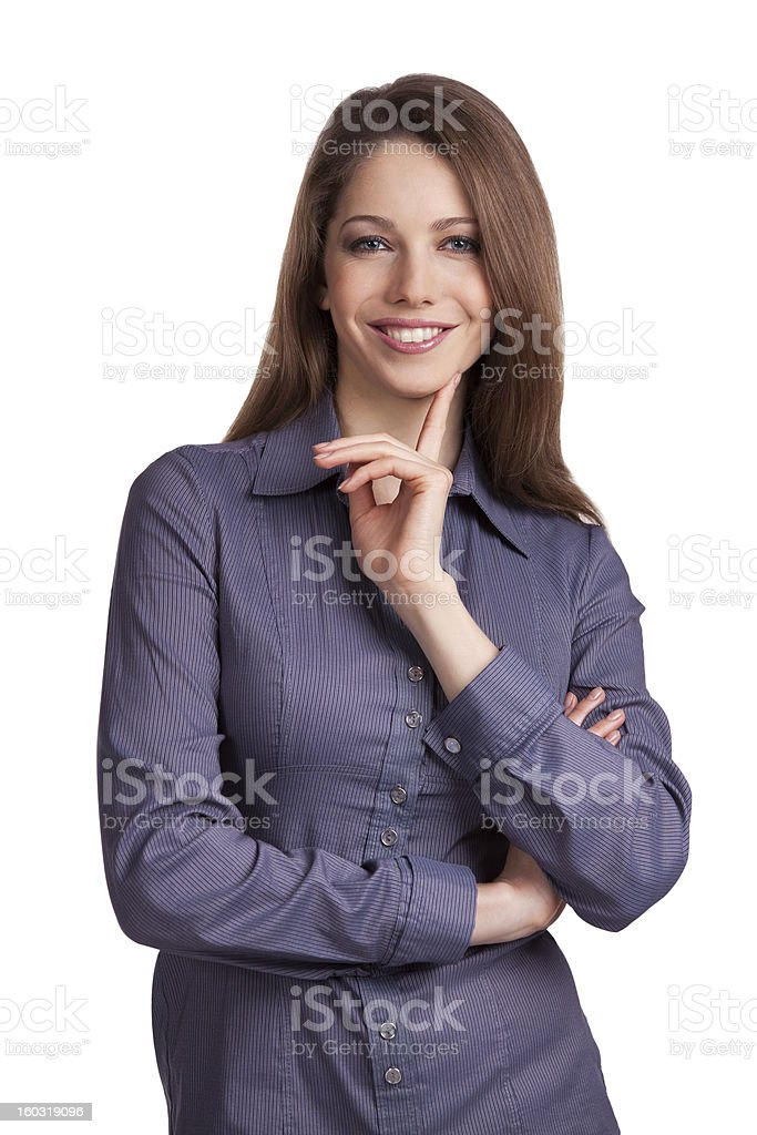 Beautiful dark-haired woman royalty-free stock photo