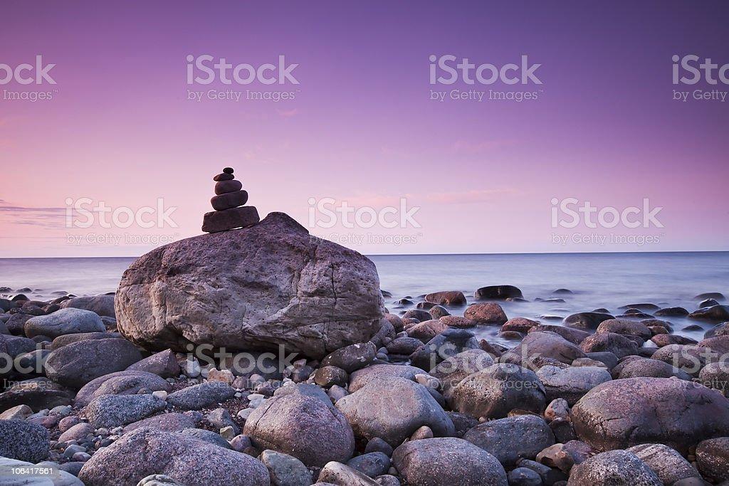 Beautiful dawn at the coastline royalty-free stock photo