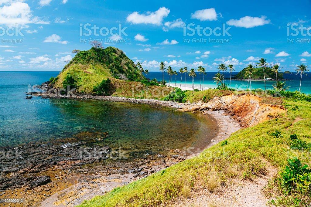 Beautiful day at Nacpan beach, Philippines stock photo