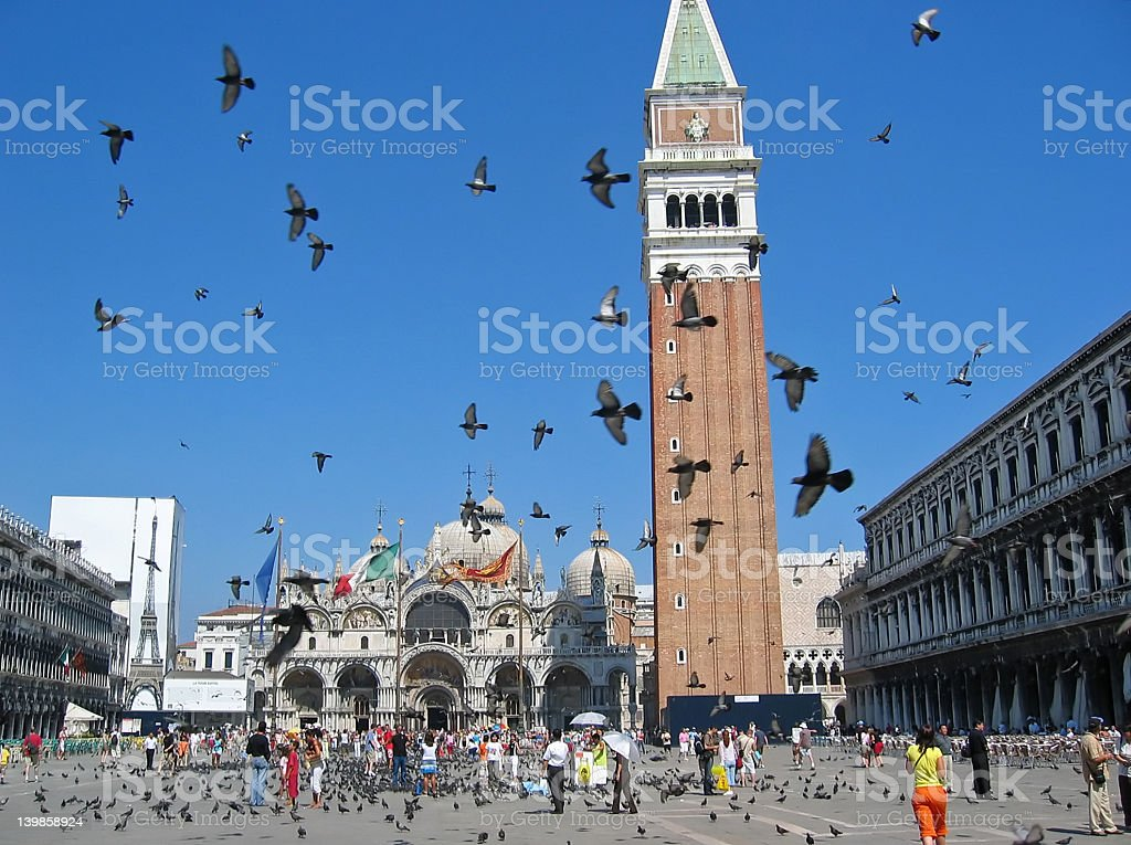 A beautiful day at Piazza San Marco stock photo