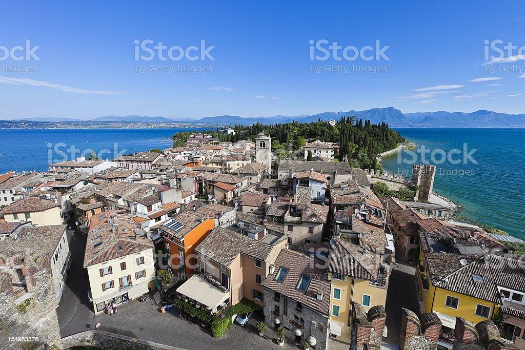 Beautiful Day at Sirmione, Lake Garda stock photo