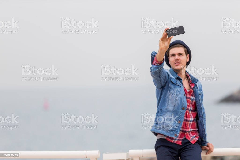 Beautiful day for a selfie stock photo