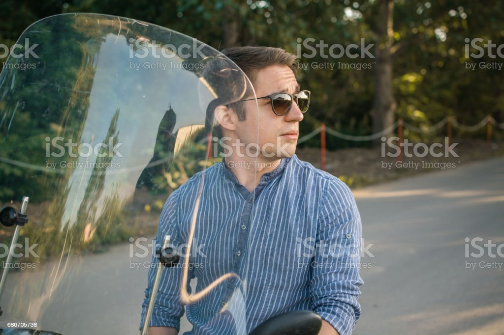 Beautiful day for the ride stock photo