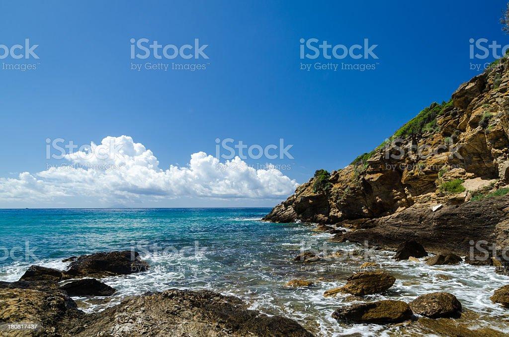 Beautiful day in Elba Island royalty-free stock photo