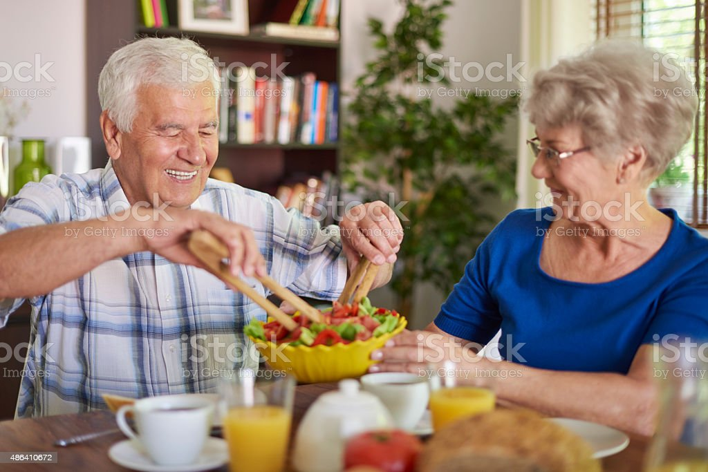 Beautiful day to have a meal together stock photo