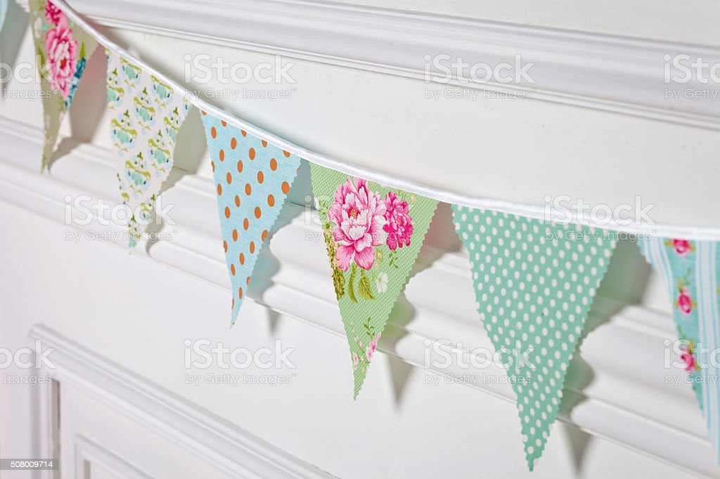 Beautiful decoration for birthday party stock photo