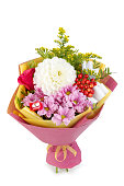 beautiful, delicate bouquet of flowers on isolated background