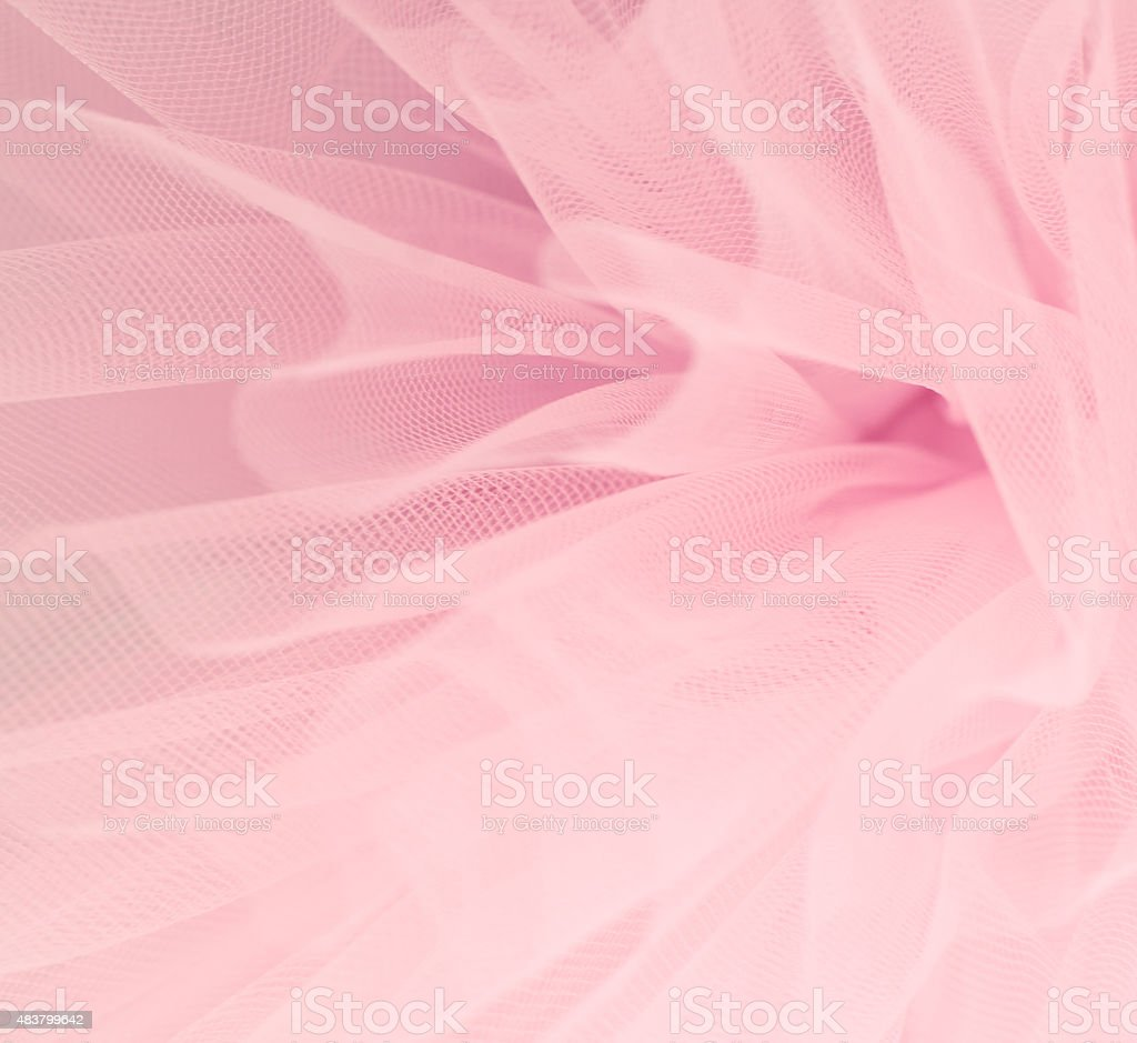 Beautiful delicate pink background mesh fluffy fabric stock photo