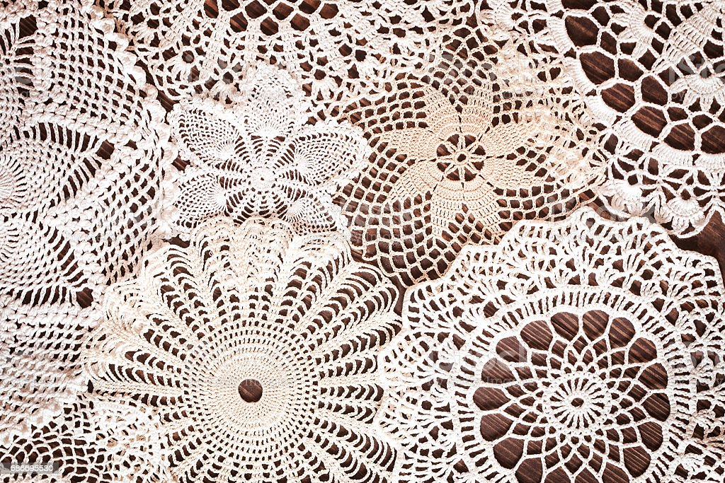 Beautiful delicate vintage lace background stock photo