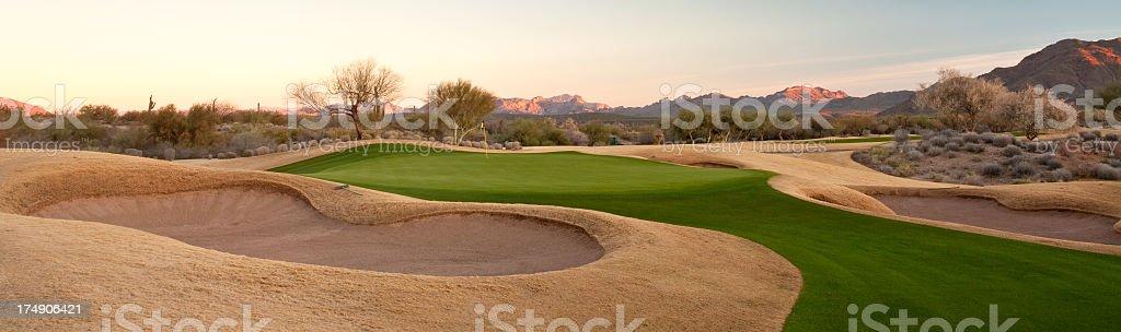 Beautiful Desert Golf Course in Phoenix stock photo