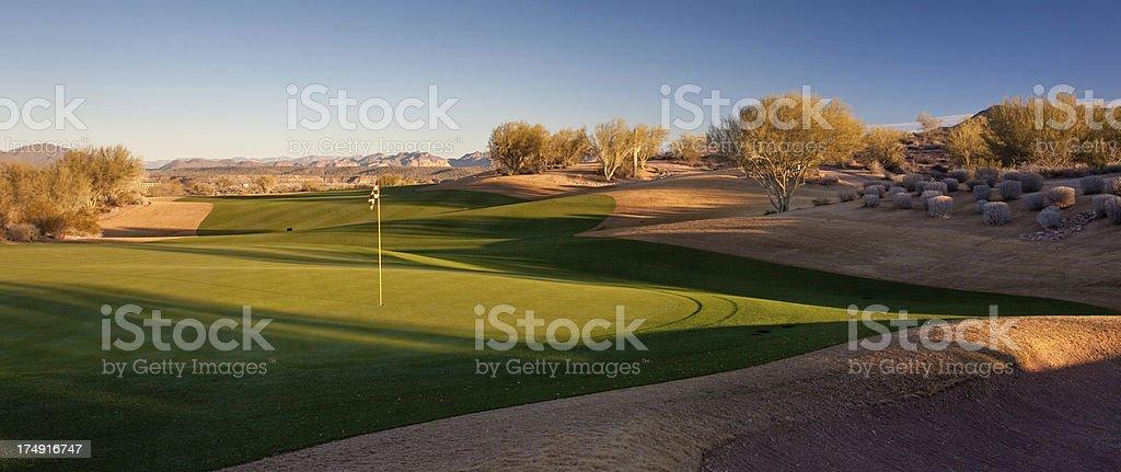 Beautiful Desert Golf Course stock photo