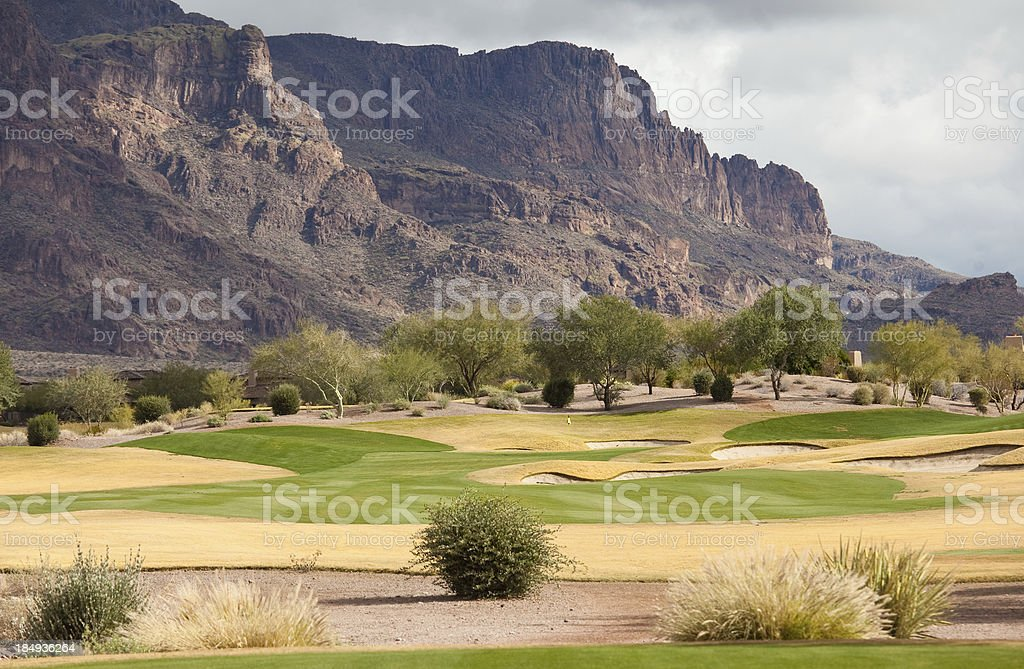 Beautiful Desert Golf Course royalty-free stock photo