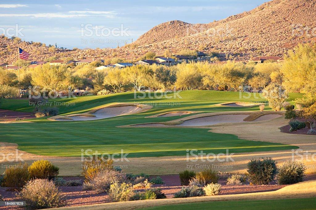 Beautiful Desert Golf Course royalty-free stock photo