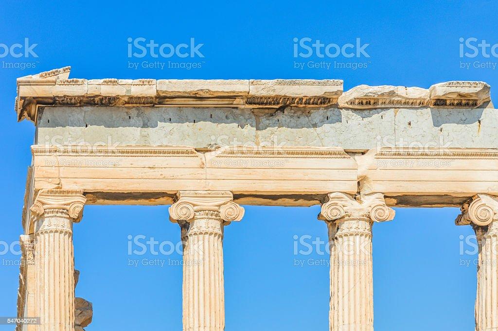 Beautiful detail of the Acropolis - Athens, Greece stock photo