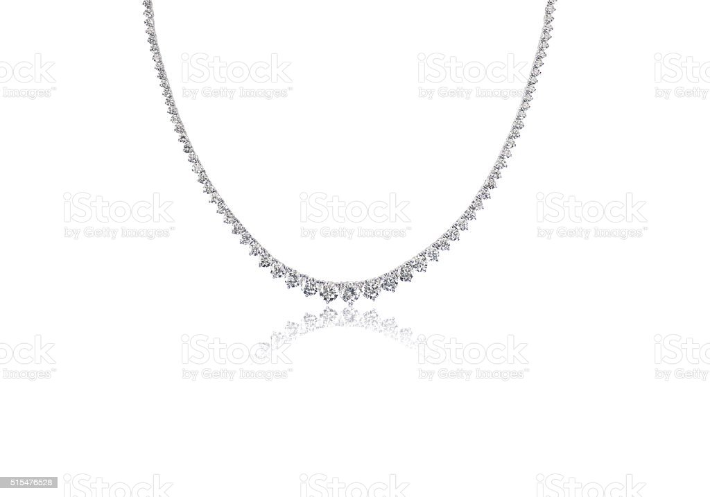 Beautiful Diamond Necklace stock photo