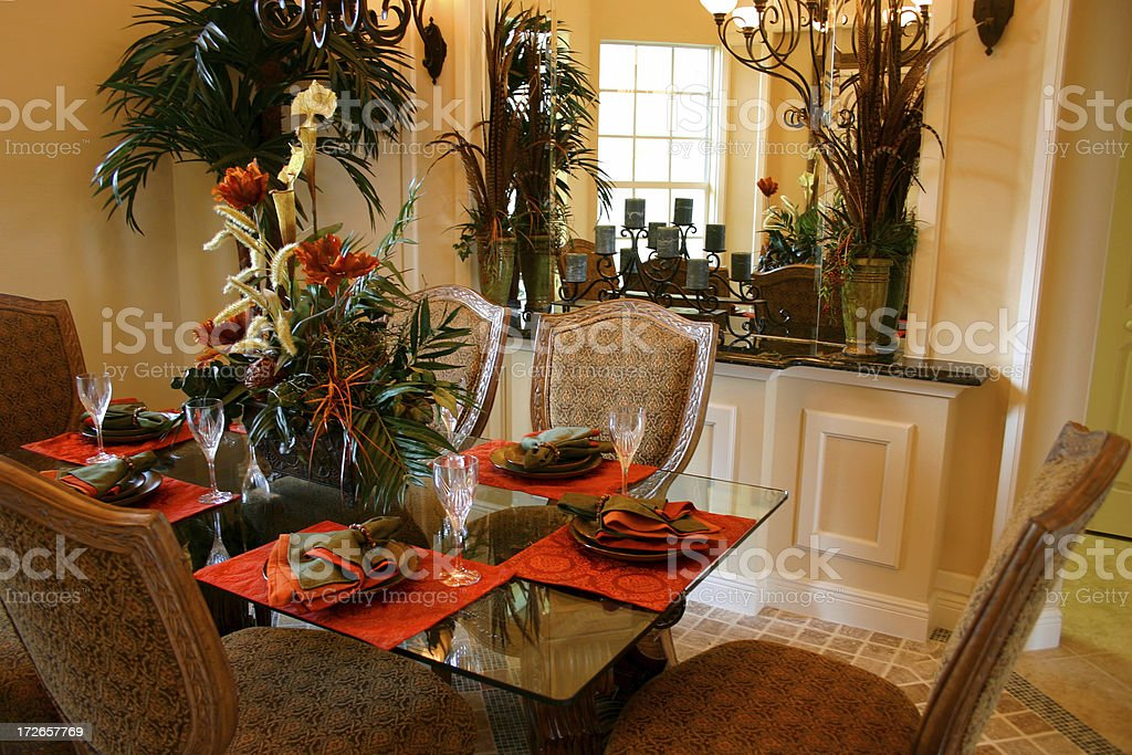 Beautiful Dining Room Table royalty-free stock photo