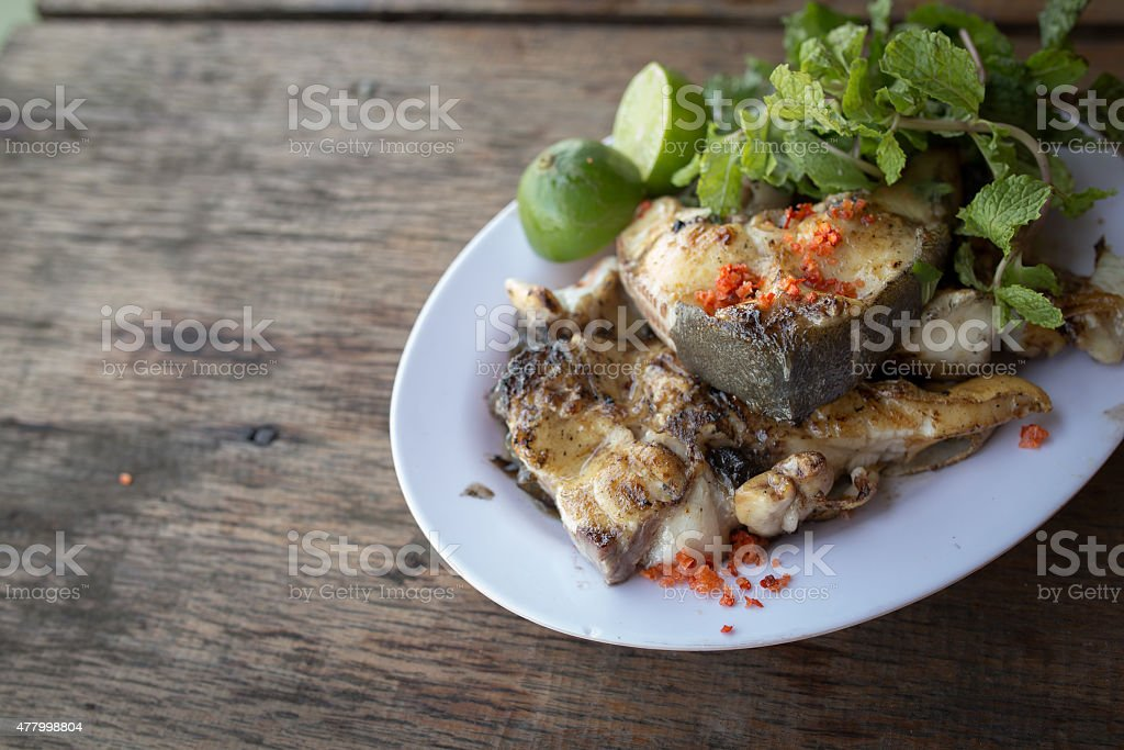 Beautiful dish of fried fish :Vietnamese food royalty-free stock photo
