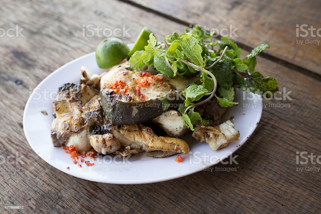 Beautiful dish of fried fish :Vietnamese food royalty-free stock photo