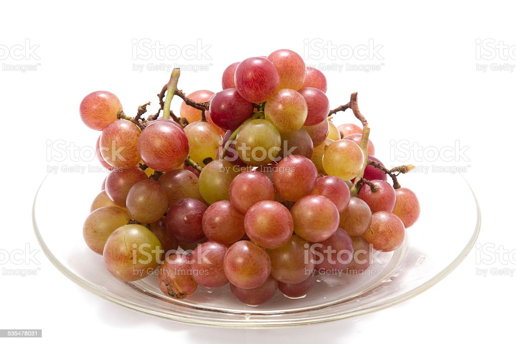 Beautiful disk of grape on white background royalty-free stock photo