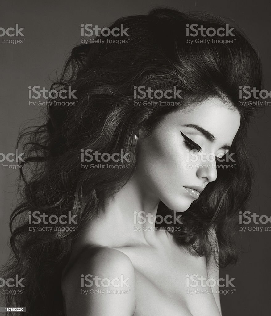 Beautiful diva stock photo