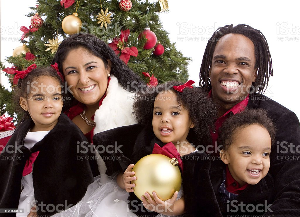 Beautiful Diverse family royalty-free stock photo
