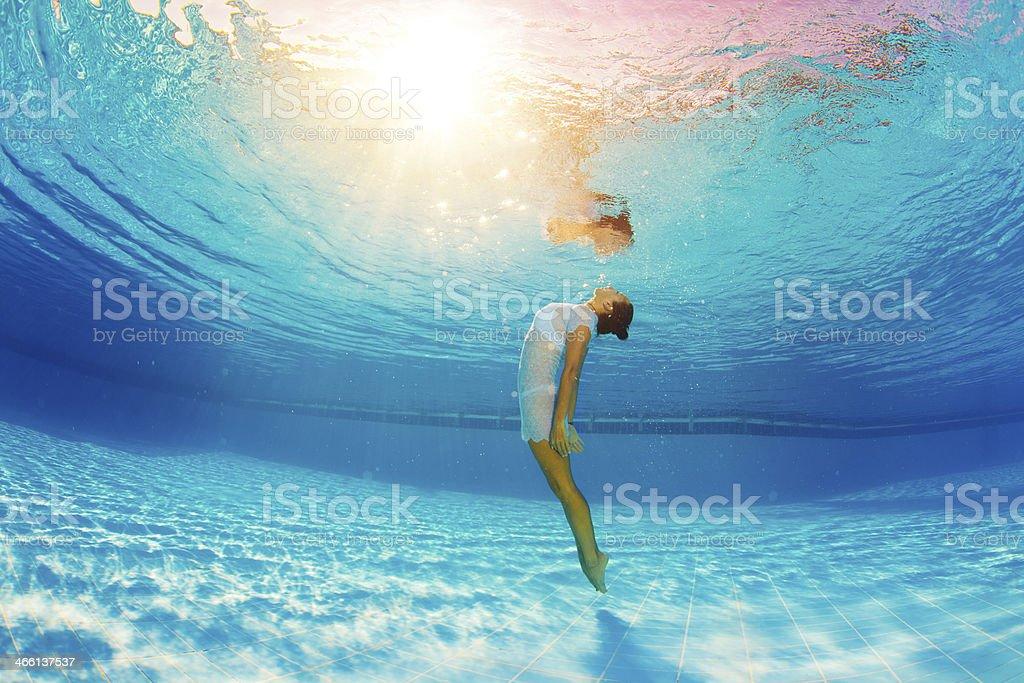 beautiful diving stock photo
