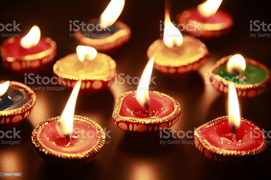 Beautiful Diwali Diya (deepak) stock photo