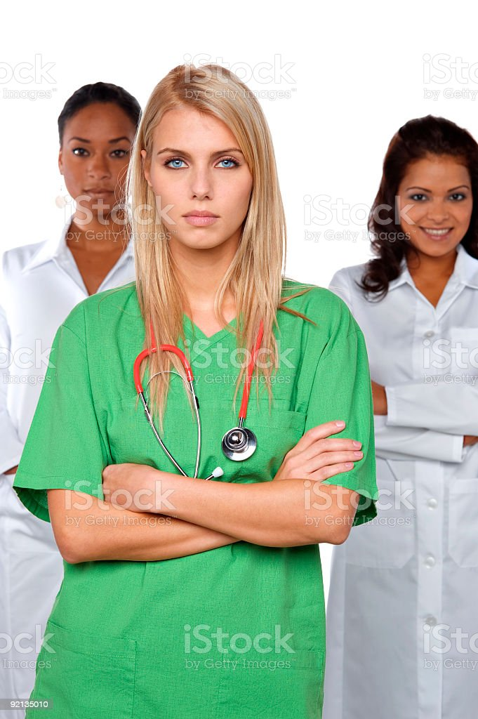 beautiful doctors royalty-free stock photo