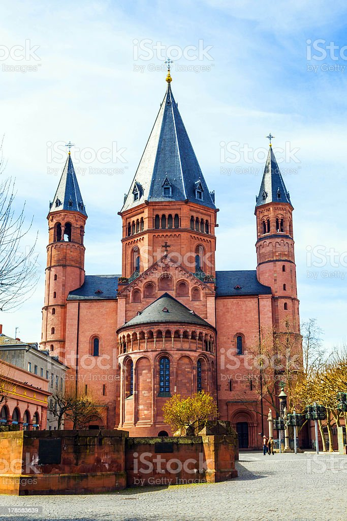 beautiful dome in Mainz royalty-free stock photo