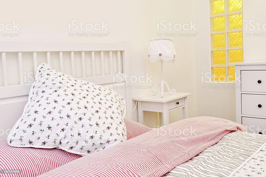 Beautiful domestic bedroom royalty-free stock photo