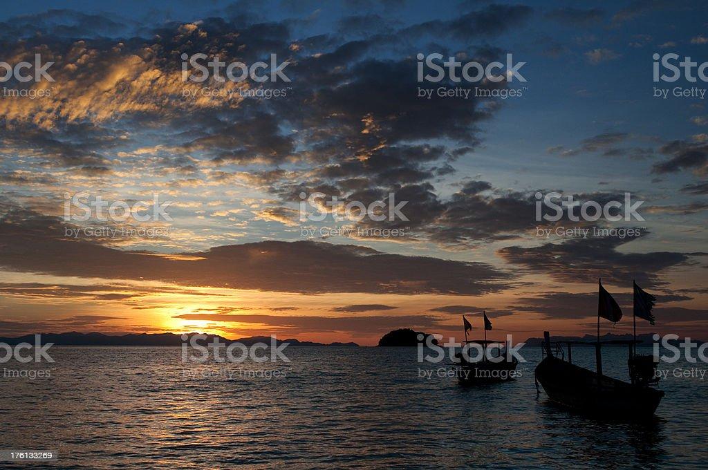 Beautiful Dramatic Tropical Sunrise royalty-free stock photo