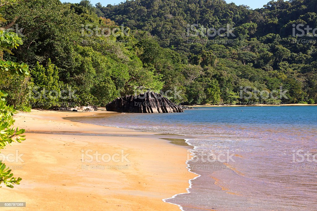 Beautiful dream paradise beach, Madagascar stock photo