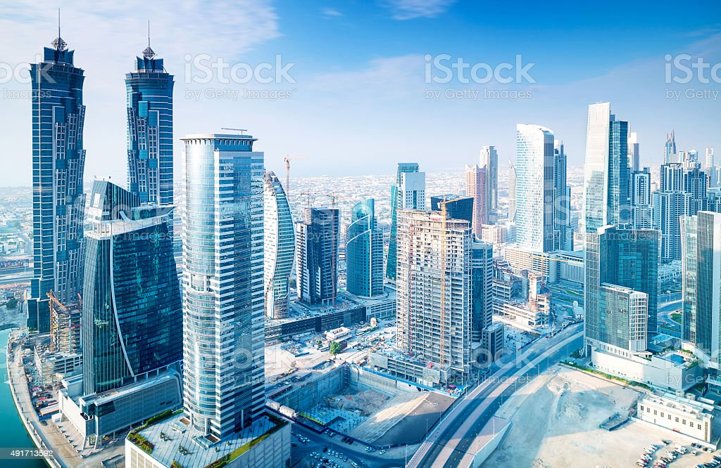 Beautiful Dubai city stock photo