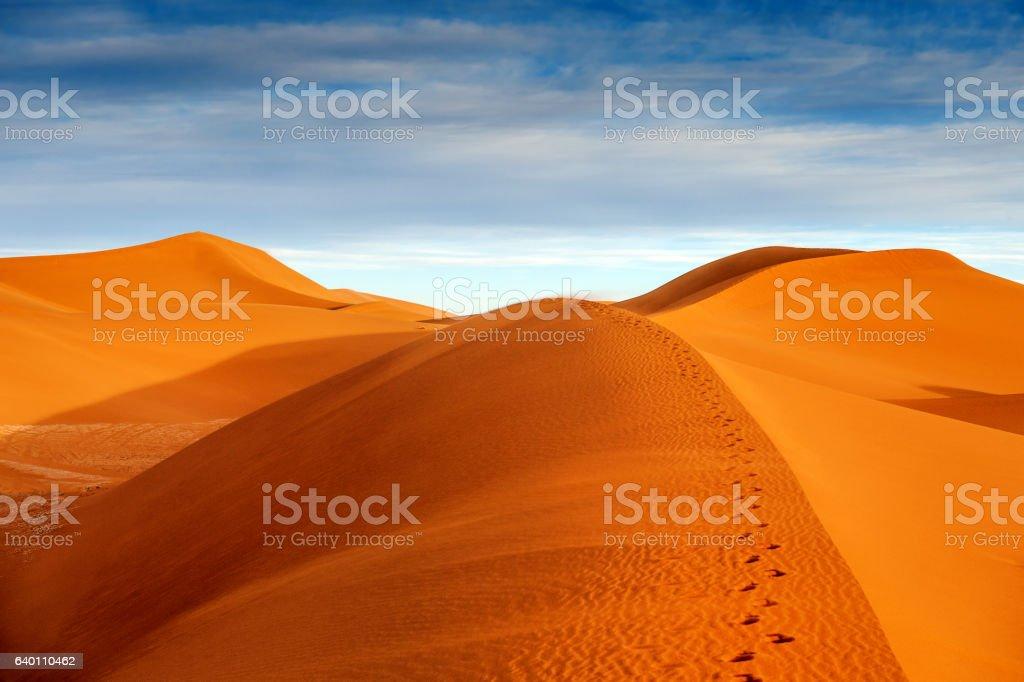Beautiful  Dunes near Mhamid,Zagora,  Morocco,North Africa stock photo