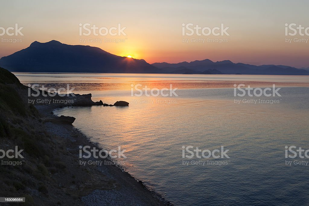 Beautiful dwan in the Mediterrean royalty-free stock photo