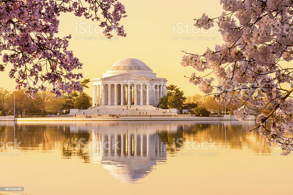Beautiful early morning Jefferson Memorial stock photo