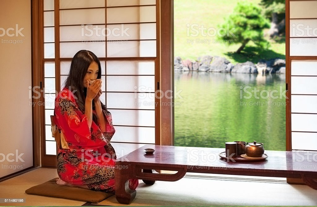 Beautiful east asian woman stock photo