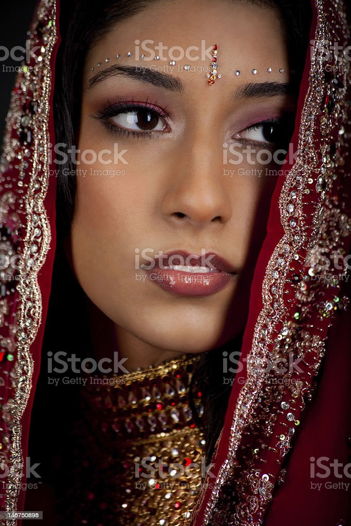 Beautiful East Indian Bride stock photo